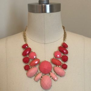 Charming Charlie Pink Ombre Statement Necklace